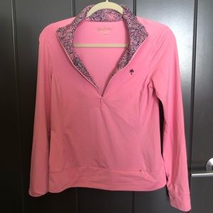 Vintage Lilly Pulitzer Athletic Quarter Zip xsmall
